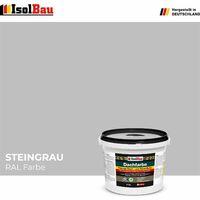 Dach- und Sockelfarbe Dachbeschichtung Dachlack 4 kg Steingrau Polymermembran