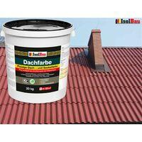 Dachfarbe 20 kg Sockelfarbe Dachlack Ziegelrot elastisches Markenware