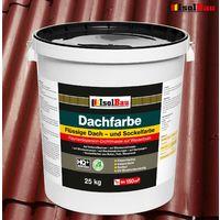 Dachfarbe 25 kg Sockelfarbe Dachlack Ziegelrot flüssige Polymermembran