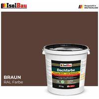 Dachfarbe elastisches Sockelfarbe Dachbeschichtung Dachlack 20kg Braun HQ+