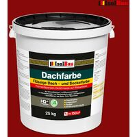 Dachfarbe Sockelfarbe Dachbeschichtung Dachlack Dachsanierung 25 kg Ziegelrot HQ