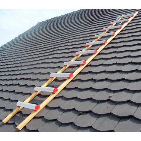 Dachleiter aus Holz und Alu - Sprossenabstand 39cm (in verschiedenen Größen erhältlich)