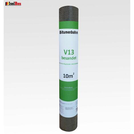 Dachpappe V 13 besandet mit Glasvlieseinlage 10 m² Dachbahn Glasvlies Bitumen