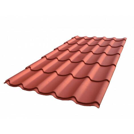 Dachpfannenplatte aus verzinktem Stahlblech, matt lackiert L 1,95 m / B 1,04 m