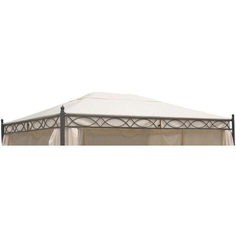 Dachplane für Pavillon Rivoli 3x4 Meter, Farbe ecru