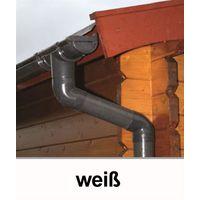 Dachrinnen Fallrohr Ø60mm Länge 200cm PVC weiß