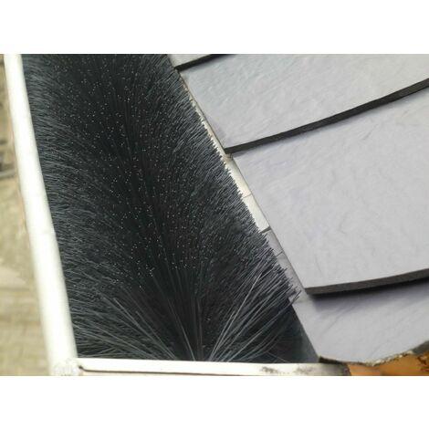 Dachrinnenbürste Ø 12 cm Dachrinnenschutz Marder- Laubschutz Rinnenraupe