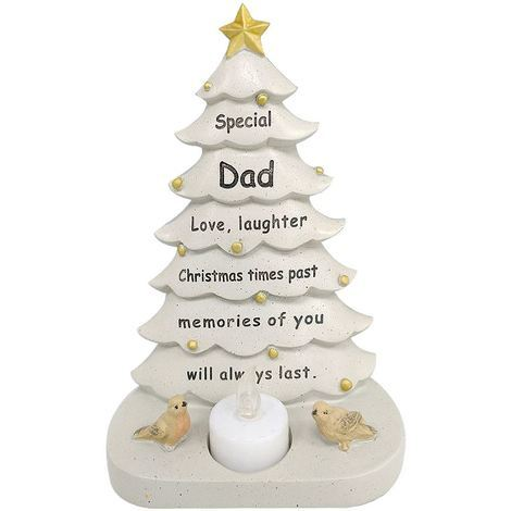 Dad Xmas Tree With Flickering Light 14.5 x 19.5 x 9 cm