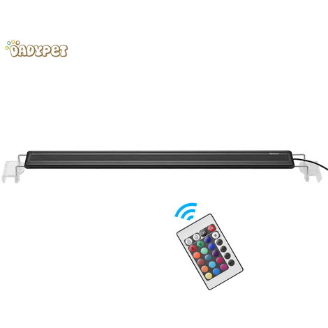 Dadypet HL-3060C Aquarium Fish Tank Light RGB Multi-Colors LED Light with Extendable Brackets and IR Remote Control