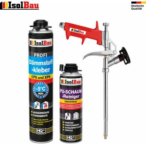 Dämmstoffkleber 1 x750 ml + 1 Metall Schaumpistole + 1 PU Reiniger hohe Qualität