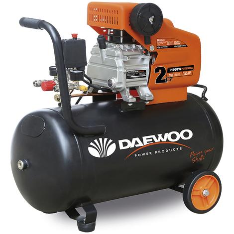 Daewoo DAAC50D - Compresor de aire 1.5 HP, 230 V, 50 L, coaxial