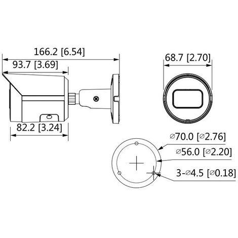 Dahua - Cámara IP para Exteriores Onvif PoE 2MP Starlight 2.8mm S2 D - IPC-HFW2231S-S