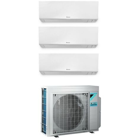 Daikin climatiseur Trialsplit wall 9000 + 9000 + 9000 btu gaz R32 | Blanc - Standard