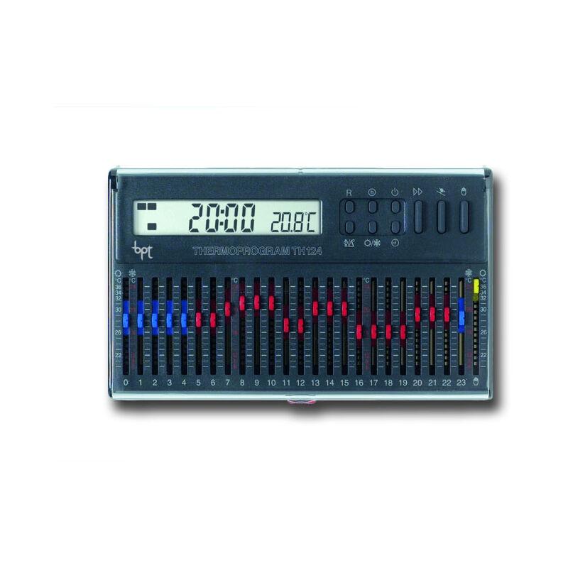 bpt chronothermostat numérique avec curseurs th/124.01 gr 69403610 - Came