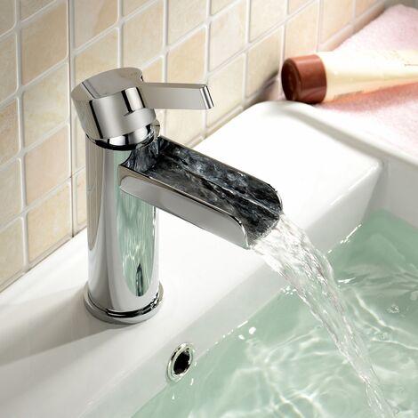 Daina Bathroom Basin Mono Mixer Waterfall Tap & Waste