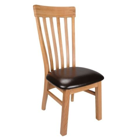Daisy Solid Oak Bycast Leather Chair