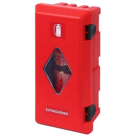 Daken® Coffre d'extincteurs Ø150-170mm rouge/rouge avec fenêtre