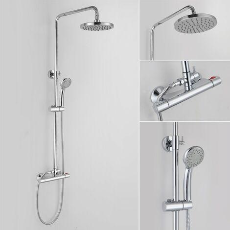 Dakota Chrome Thermostatic Mixer Shower & Adjustable Rigid Riser Rail Kit