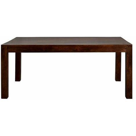 Dakota Mango Large Dining Table 6ft (180cm) - Dark Wood