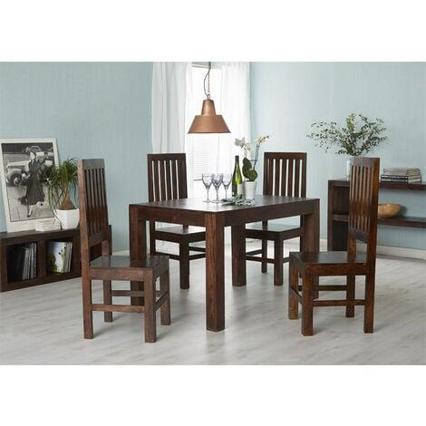 Dakota Mango Small Dining Table 4ft (120cm) - Dark Wood