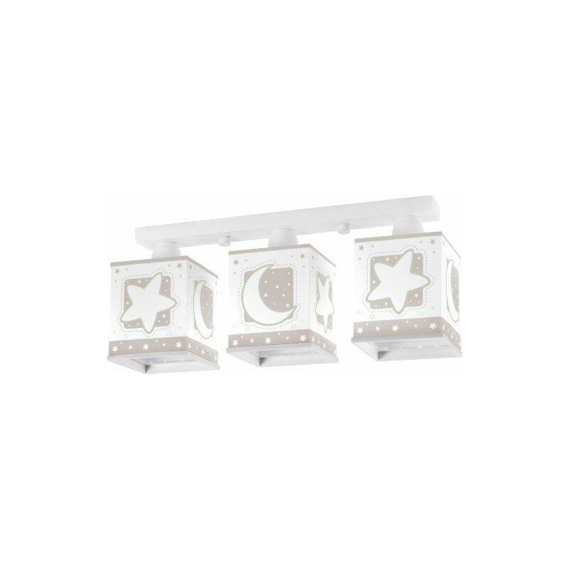 63233E - Lampe de Plafond - Rampe 3 - Lune - Brun - Dalber
