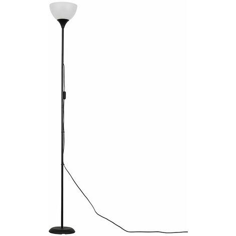 Dalby Floor Lamp Uplighter - White - Silver