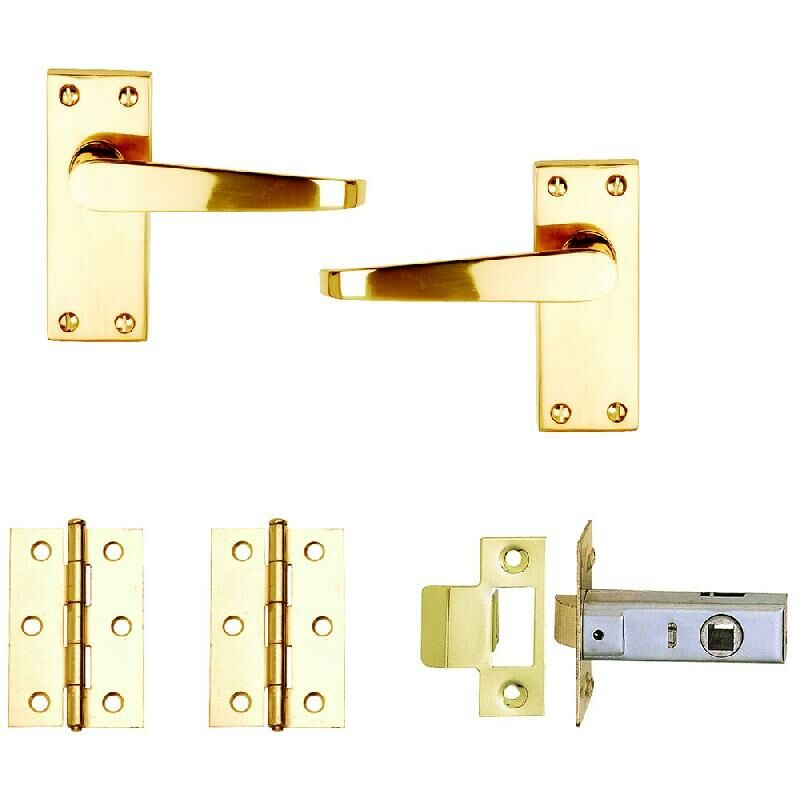Image of Dale PB Victorian Flat Internal Door Pack x 3 - Contract Skin Packed