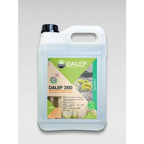 DALEP 3100 – Traitement 2 en 1: Fongicide & hydrofuge d'origine végétale – Poche souple 5L