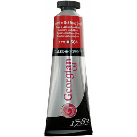 Daler-Rowney 111014504 Georgian Oil 38ml Cad Red Deep (Hue)