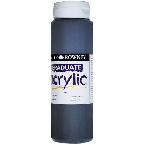 Daler Rowney 123500084 Graduate Acrylic Paint 500ml Neutral Grey