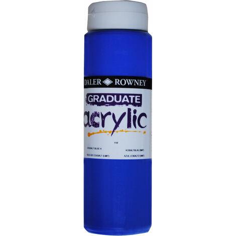 Daler Rowney 123500110 Graduate Acrylic Paint 500ml Cobalt Blue Hue