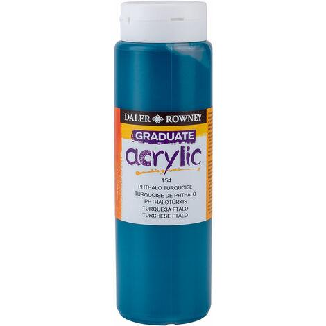 Daler Rowney 123500154 Graduate Acrylic Paint 500ml Phthalo Turquoise