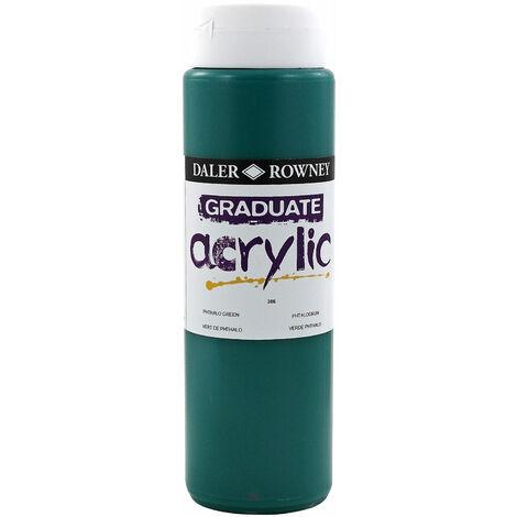 Daler Rowney 123500386 Graduate Acrylic Paint 500ml Phthalo Green