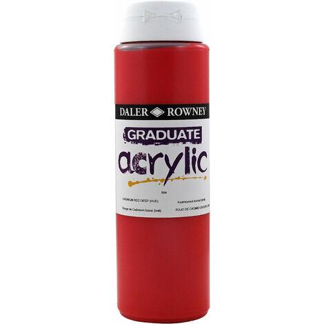 Daler Rowney 123500504 Graduate Acrylic Paint 500ml Cadmium Red Deep Hue