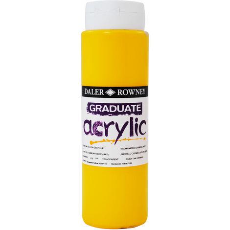 Daler Rowney 123500618 Graduate Acrylic Paint 500ml Cadmium Yellow Deep Hue