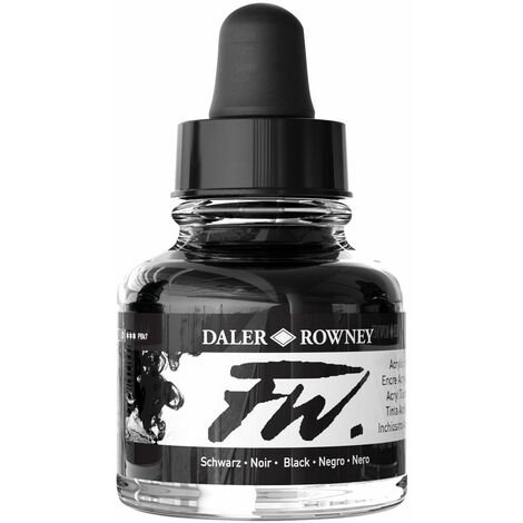 Daler-Rowney FW Artists Acrylic Ink 29.5ml Black (India)
