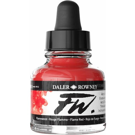 Daler-Rowney FW Artists Acrylic Ink 29.5ml Flame Red