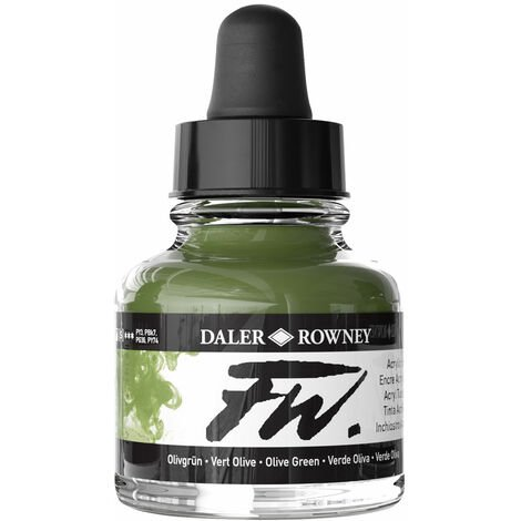Daler-Rowney FW Artists Acrylic Ink 29.5ml Olive Green