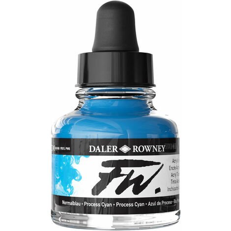 Daler-Rowney FW Artists Acrylic Ink 29.5ml Process Cyan