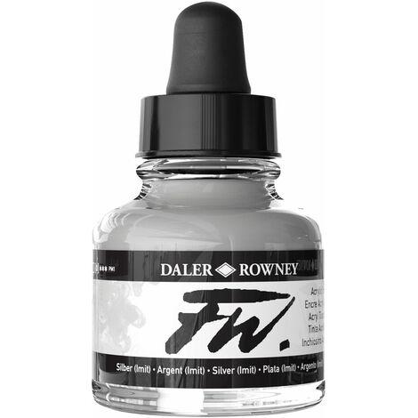 Daler-Rowney FW Artists Acrylic Ink 29.5ml Silver (Imit)