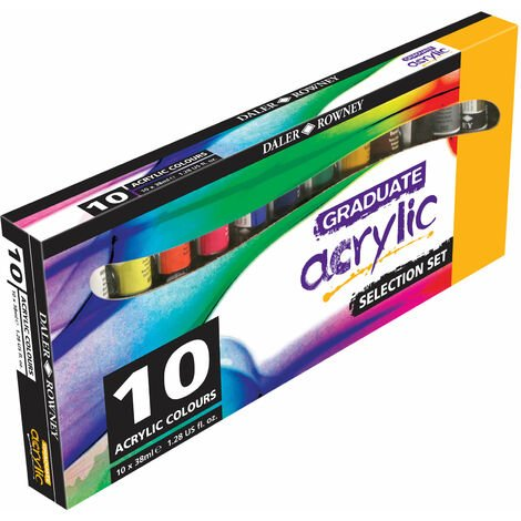 Daler Rowney Graduate Acrylic Paint Introduction Set 10 x 38ml