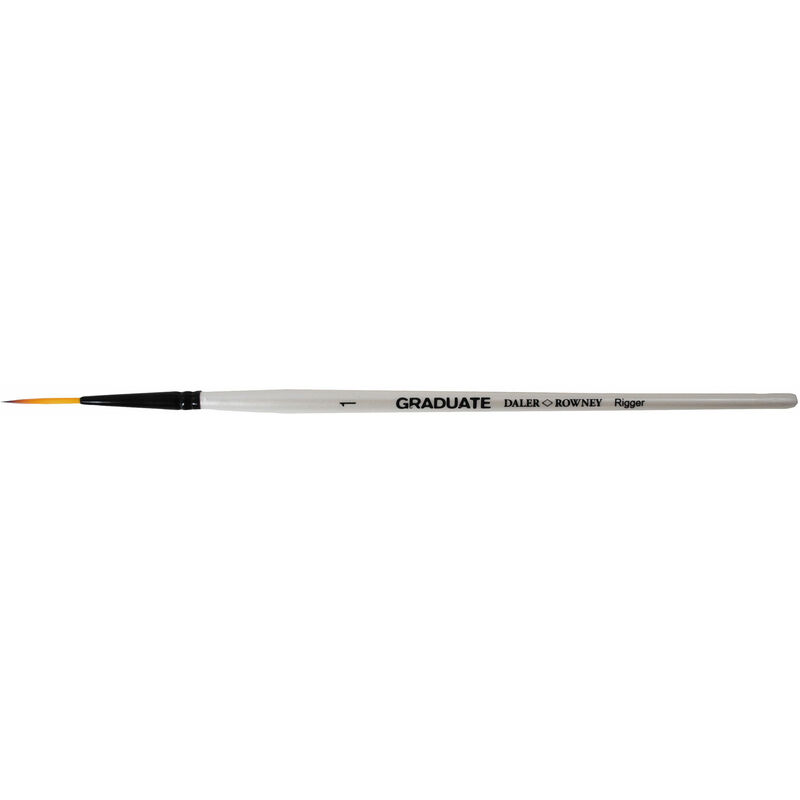 Image of Daler Rowney Graduate Dark Tip Synthetic Rigger Short Handled Brush Size 1 - DALER-ROWNEY