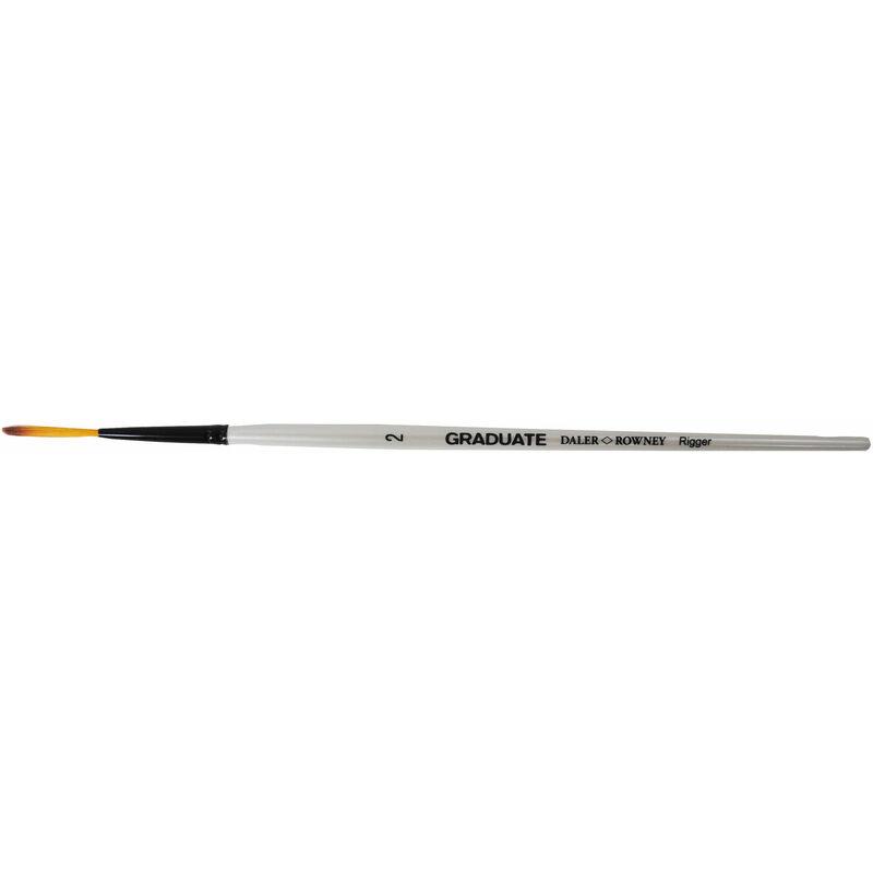 Image of Daler Rowney Graduate Dark Tip Synthetic Rigger Short Handled Brush Size 2 - DALER-ROWNEY