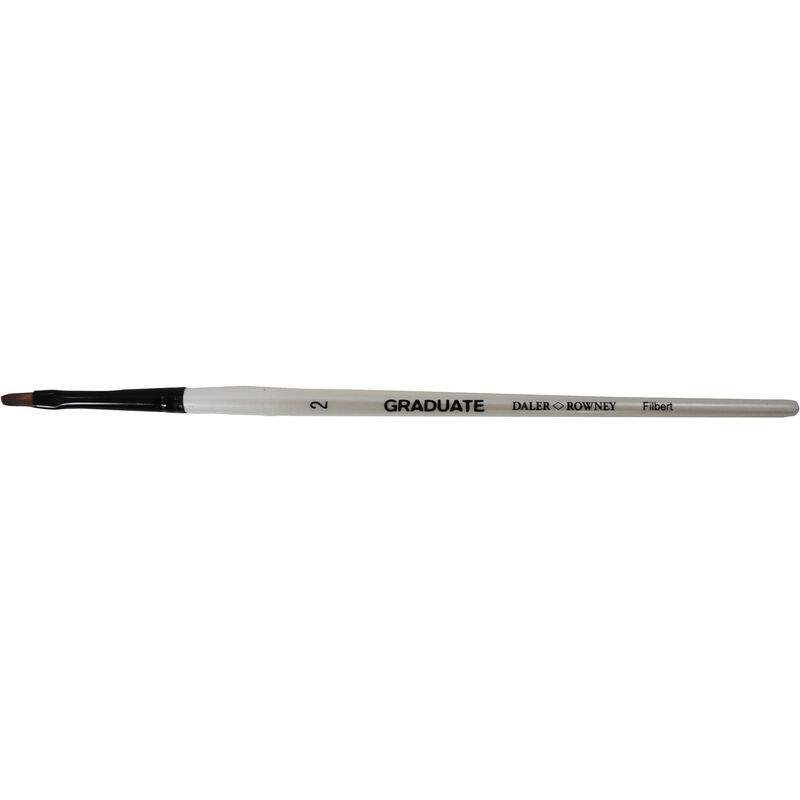 Image of Daler Rowney Graduate Filbert Short Handled Brush Size 2 - DALER-ROWNEY