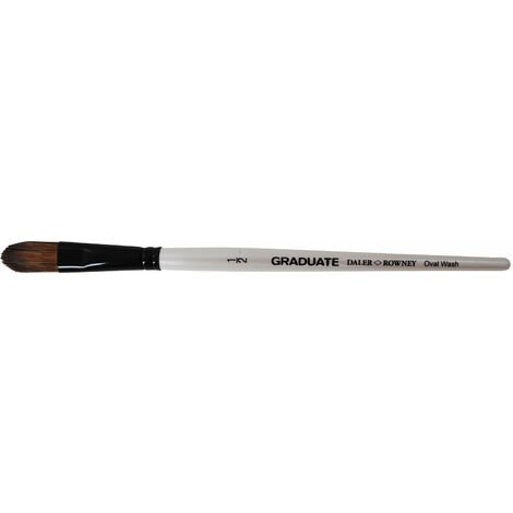 Daler Rowney Graduate Pony & Synthetic Oval Wash Brush Size 1""