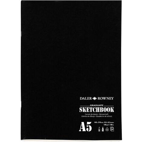 "main image of ""Daler-Rowney Graduate Stapled Matt Soft Cover Sketch Book A5 140G 20Sh"""
