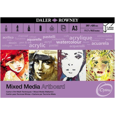 Daler-Rowney Optima Mix Media Artboard Pad A3 10 Sheets