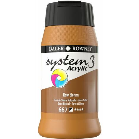 Daler Rowney System 3 Acrylic Paint Raw Sienna (500ml)
