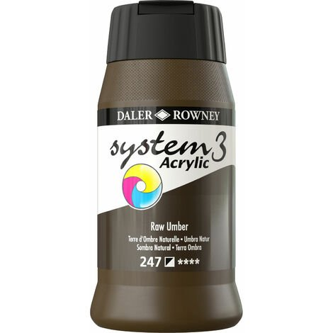 Daler Rowney System 3 Acrylic Paint Raw Umber (500ml)