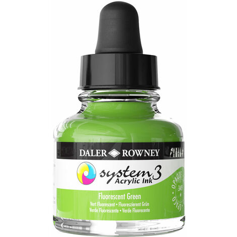 Daler-Rowney System3 Ink 29.5ml Fluorescent Green